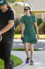 Krysten Ritter Takes a stroll with her son and husband in Studio City