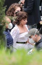 Lady Gaga On the set of House of Gucci in Rome