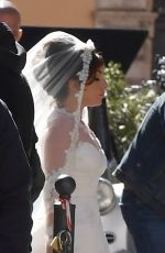 """Lady Gaga On the set of the new Ridley Scott movie """"The House of Gucci"""" out in Rome"""