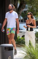 Lais Ribeiro Spotted on a stroll with fiance and pro basketball player Joakim Noah in Miami