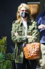 Laura Dern Checks on the remodeling of her home in Santa Monica