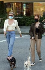 Lili Reinhart and Madelaine Petsch Walking their dogs in Vancouver