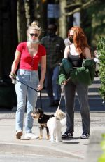 Lili Reinhart Walking her dogs in Vancouver
