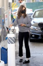 Lily Collins Getting gas in West Hollywood