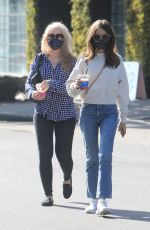 Lily Collins Takes her Mom out for lunch to celebrate her Birthday in West Hollywood