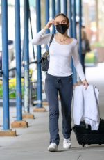 Lily-Rose Depp Goes braless as she leaves for the airport in New York