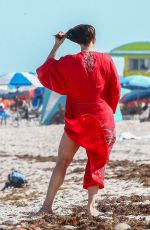 Liv Tyler Enjoys a picture-perfect afternoon at the beach with her children and family in Miami Beach