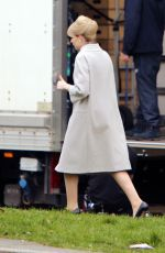 Lucy Boynton Spotted arriving at a location for the filming of the ITV series