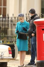 Lucy Boynton Spotted filming ITV