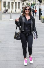 Lucy Horobin Arriving for her Heart Dance show at the Global Radio Studios in London
