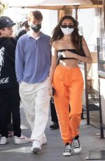 Madison Beer At Il Pastaio in Beverly Hills
