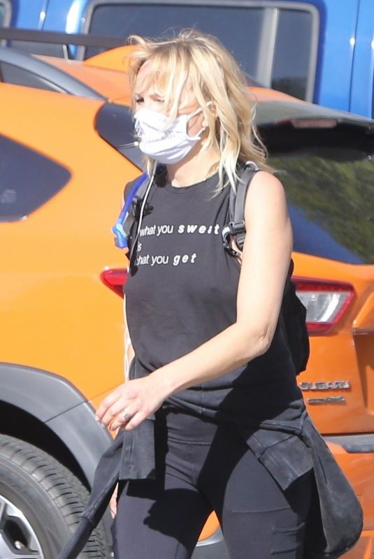 Malin Akerman Out hiking in Los Feliz