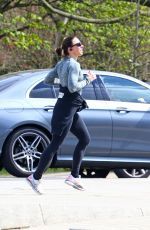 Melanie Chisholm Works up a sweat on a morning jog in London