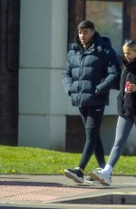 Molly Mae and Tommy Fury are seen enjoying a Easter Monday walk