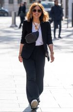 Myleene Klass Looks chic in black at Smooth Radio in London