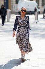 Myleene Klass Pictured arriving at the Global studios for her Smooth radio show in London