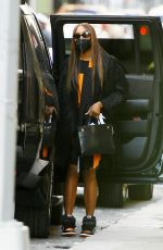 Naomi Campbell Matches her Nikes with her dress in NYC