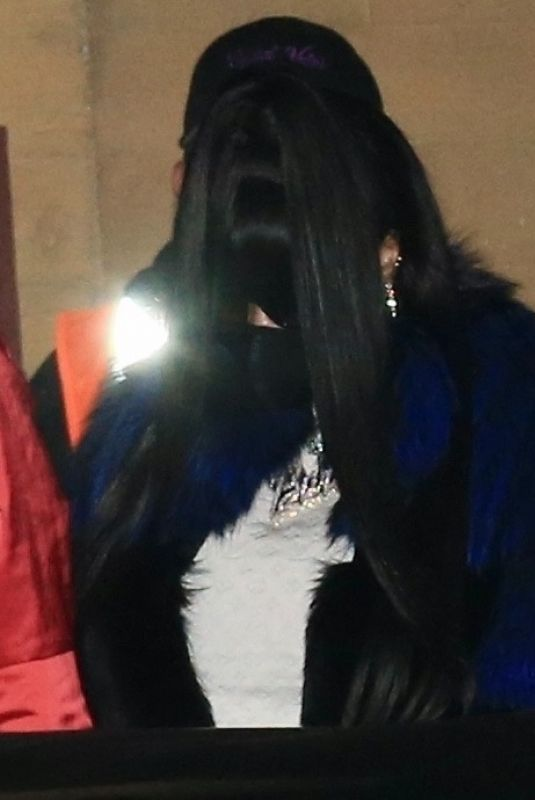 Nicki Minaj Keeps a low porifle as she steps out for a late night dinner date at Nobu in Malibu