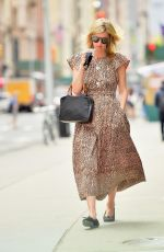 Nicky Hilton Steps out in a leopard print dress for coffee in New York City