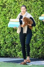Olivia Culpo and boyfriend Christian seen getting gifts after a tandem workout together