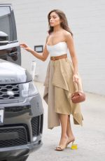 Olivia Culpo Leaving a business meeting in Beverly Hills
