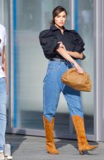 Olivia Culpo Struts in cowboy boots as she shops at Valentino in Beverly Hills
