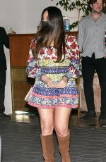 Olivia Munn Stuns in a colorful dress while spotted leaving an event at the Sunset Towers in West Hollywood