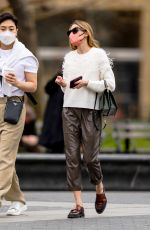 Olivia Palermo Pictured in Washington Square Park with a friend in New York City