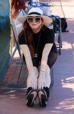 Phoebe Price Posing and stretching out as she arrives for practice at the courts on Tuesday in Los Angeles