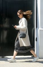 Pippa Middleton Nails smart casual in a stylish cream coat and white trainers as she heads out in London