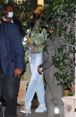 Rihanna Leaves Sunset Tower hotel after attending an Oscar party in Los Angeles