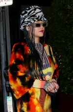 Rihanna Shows off her colorful and eclectic style while grabbing dinner in Santa Monica