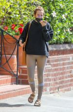 Riley Keough Chats on her phone with a bandage on her nose as she waits to enter a medical office in Beverly Hills