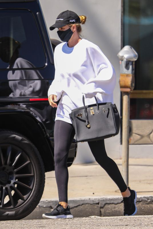 Rosie Huntington-Whiteley Takes her son to Apex fitness gym in Los Angeles