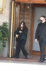 """Salma Hayek At Rome on the set of """"The House of Gucci"""""""