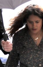 Salma Hayek On the set of House of Cucci in Rome