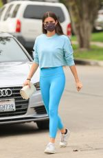 Sara Sampaio Shows off her physique in a blue outfit heading to Pilates in Los Angeles