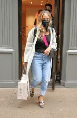 Sarah Jessica Parker Leaves her SJP Collection shoe store in rolled-up jeans in New York