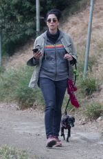 Sarah Silverman Puts on a sporty display as she steps out for a hike with her adorable pooch in Los Feliz