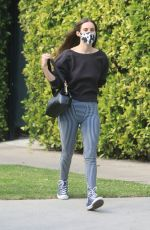 Scout Willis Leaves after a late afternoon pilates class in West Hollywood