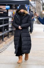 Selena Gomez & Amy Ryan Are spotted on the set of