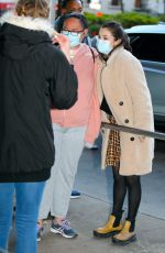 Selena Gomez At her trailor on the set of