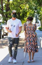 Selma Blair Dons a beautiful and colorful dress while out with her man Ron during a coffee run