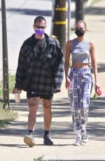 Stella Maxwell Pictured walking her dog in Los Angeles