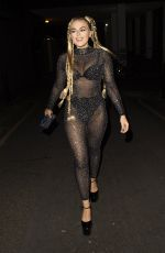 Tallia Storm Leaves a music video shoot in West London