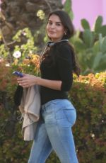 Teodora Djuric Takes a break from filming at The Pink Motel and Cadillac Jacks Cafe