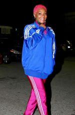 Tiffany Haddish Debuts her edgy pink hair as she steps out for a night out in West Hollywood