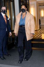 Tracee Ellis Ross Heads out of her hotel in New York City