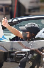 Vanessa Hudgens Pulls over in her Ferrari to sign autographs after leaving a workout at Dog Pound in West Hollywood