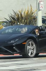 Vanessa Hudgens Takes her new Lamborghini out for a spin in LA